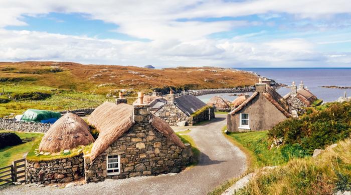 blackhouse village in scotland
