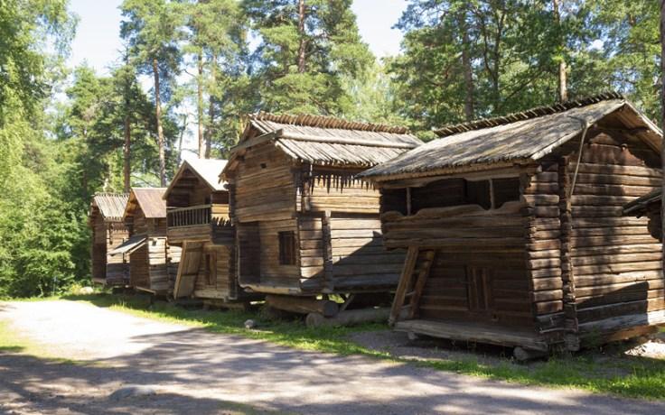 Wooden village in Finland