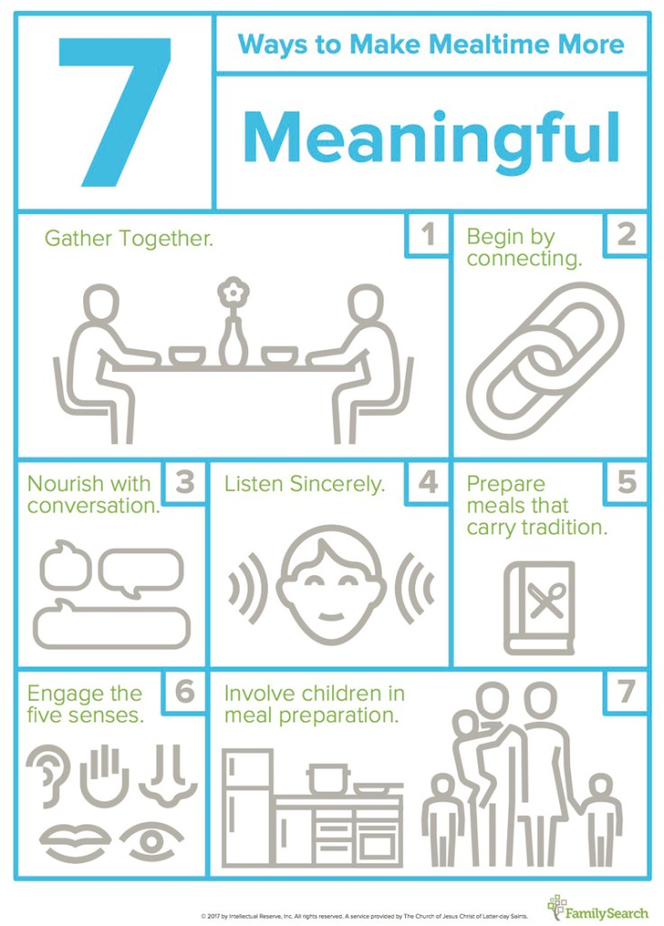 7 ways to make mealtime more meaningful.