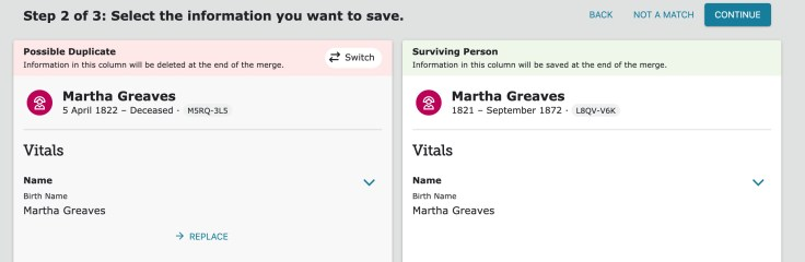 merging step 2 familysearch