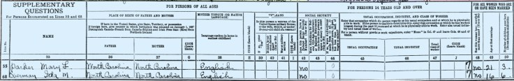 How to read a 1940 U.S. Census Record: supplemental questions