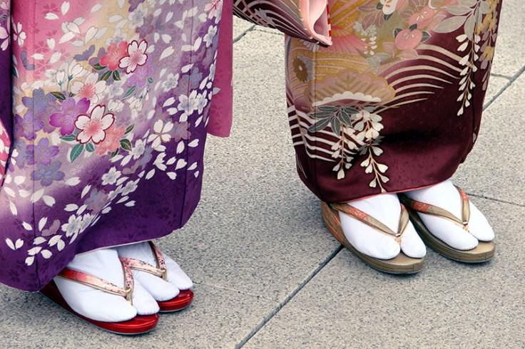 tabi socks and zori shoes