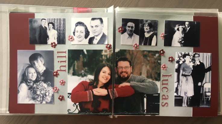 Turn your wedding photos into a heritage display.