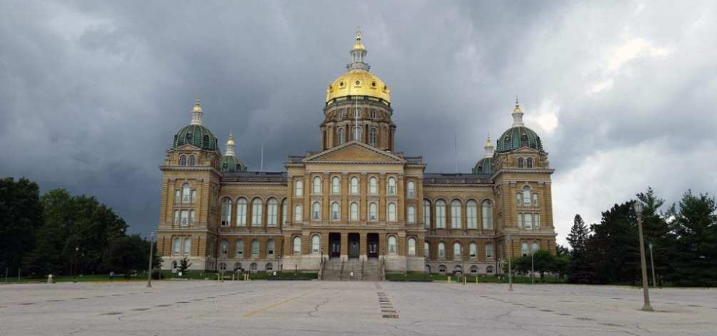 The Capitol Building of Iowa in Iowa City.
