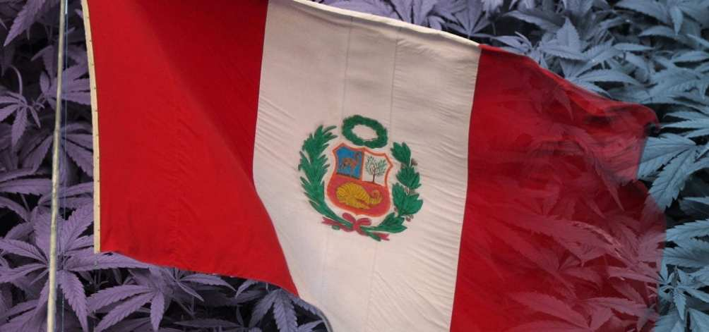 The flag of Peru, where medical cannabis has been approved by federal lawmakers.