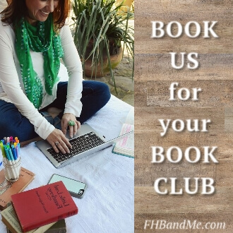 Book FHB and especially Me for the BEST BOOK CLUB EVER and the inside scoop on her life, her book, and her legacy.