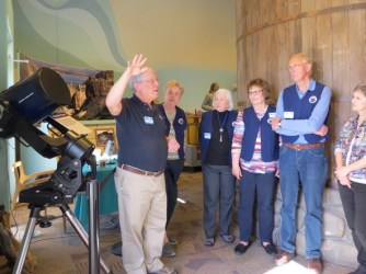 River of Time Museum's Dr. Charles Juels Telescope Exhibit