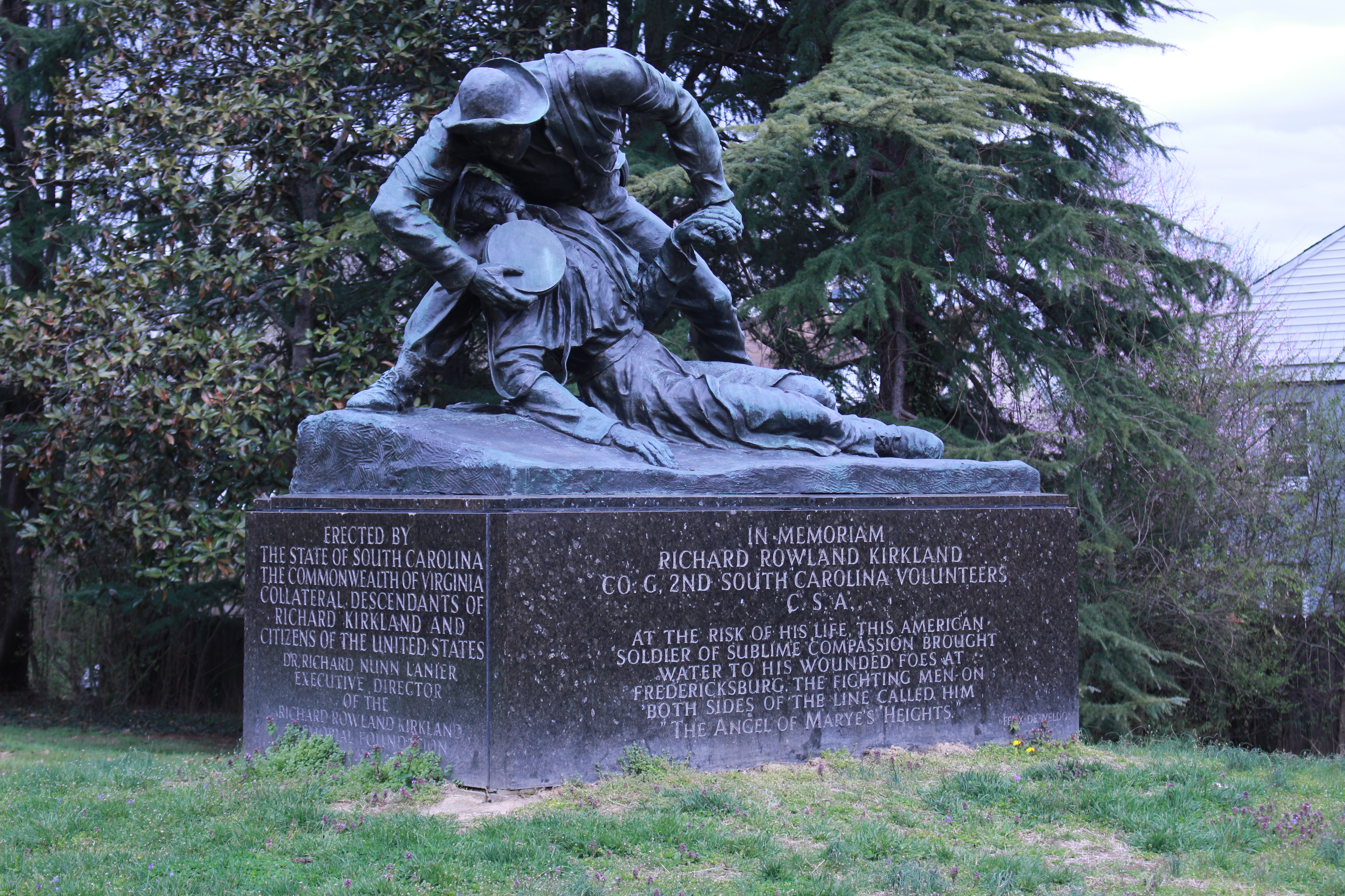 Pictured here is the Angel of Mayre's Heights Monument
