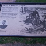 Pictured here is the Angel of Mayre's Heights State Marker