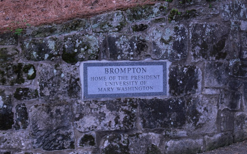 Pictured here is the stone gate outside of brompton