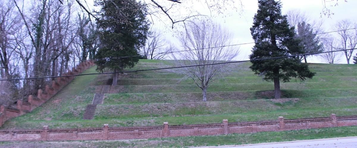 Pictured is Fredericksburg National Cemetery viewed from the road