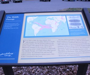 Picture of the middle passage State Marker