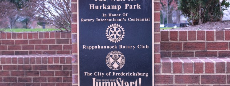 Pictured is the wall at Hurkamp Park Marker