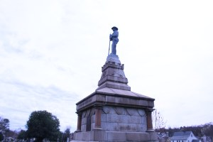 Pictured here is the side view of the To the Confederate Dead Monument