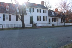 Pictured here is the view from the outside of Mary Washington's house