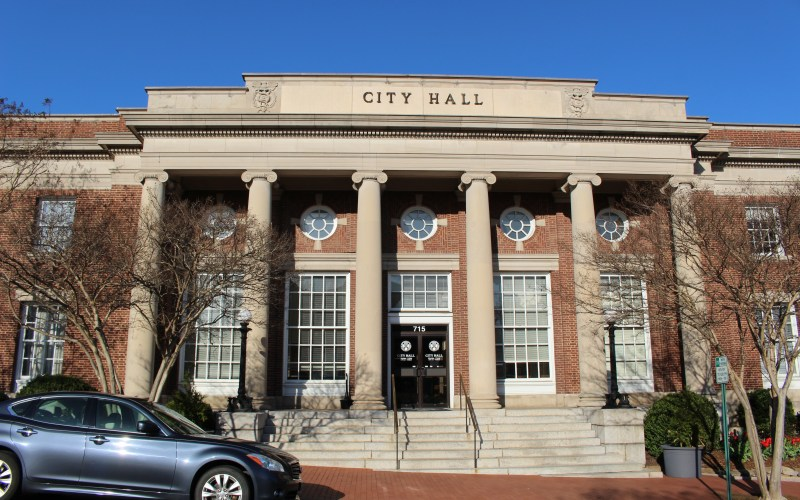 Pictured here is the outside of Fredericksburg City Hall