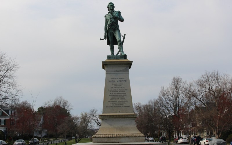 Pictured here is the Hugh Mercer Monument