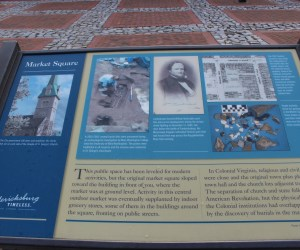 Pictured here is the market Square State Marker