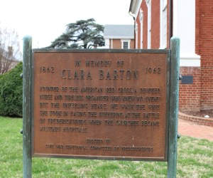 Pictured here is the in memory of Clara Barton sign