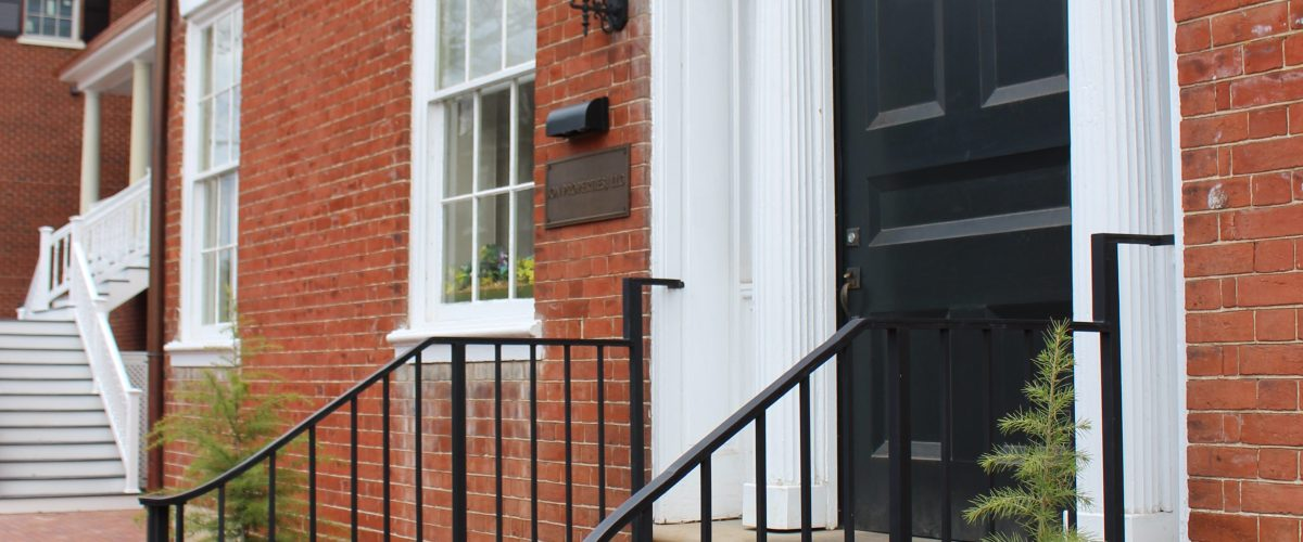 Pictured are the steps outside of the National Bank of Fredericksburg where Lincoln spoke