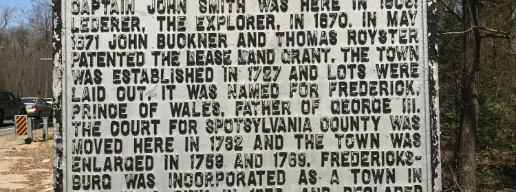 Picture of Fredericksburg Virginia State Marker