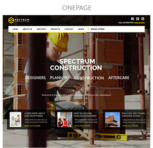 One Page Tradesman website