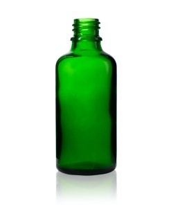 50 ml Euro Round Glass Bottle with 18-DIN Neck Finish