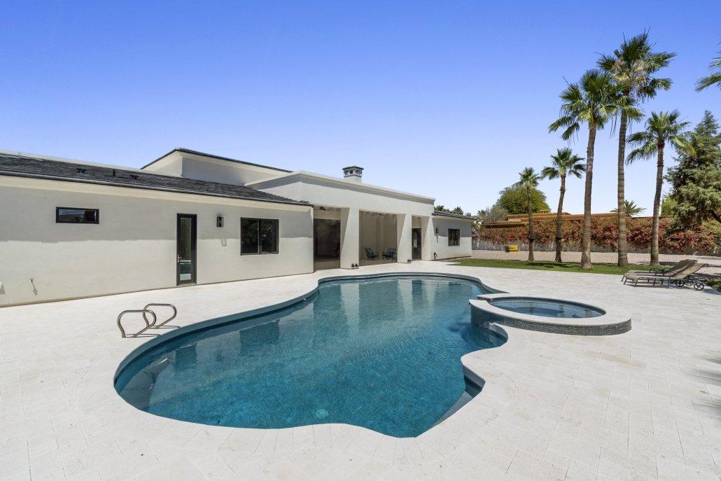 custom pool built in paradise valley az