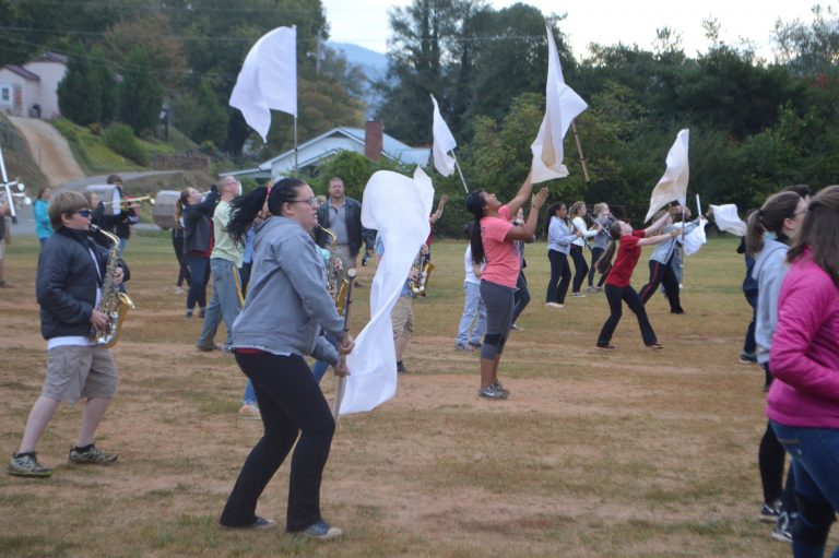 Color Guard Practice