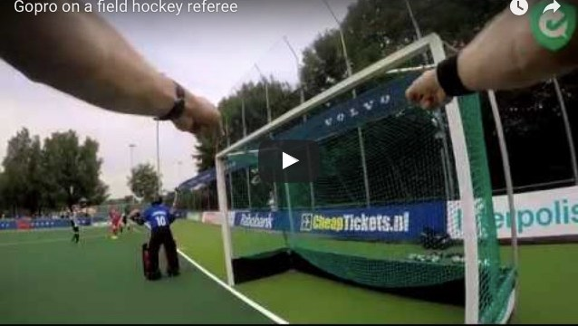 This is what a GoPro looks like on a field hockey umpire