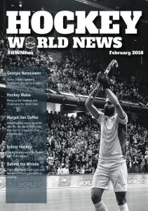 Cover - Hockey World News Edition 4 - February 2018