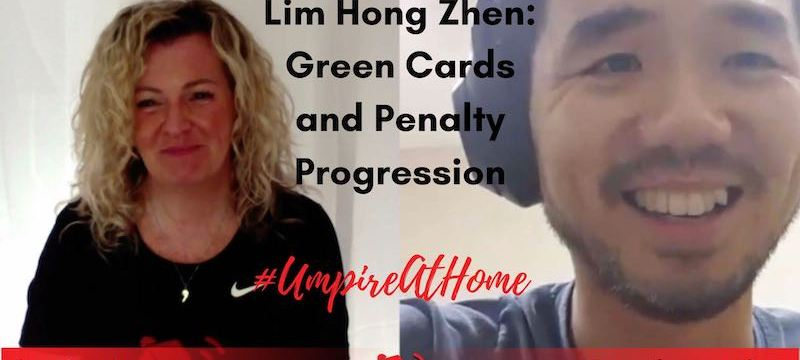Hockey Umpiring Skills | Green Cards and Progressive Penalties | Lim Hong Zhen