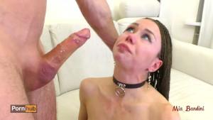 Extreme brutal deepthroat choking face fuck. Mia Bandini