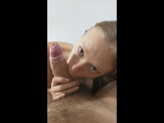 GF Swallow All After DeepThroat and Titjob
