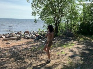 SPY WHEN I NAKED AND HORNY ON THE BEACH
