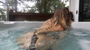 Fit Model Dances In Hot Tub & Has Enema Fetish Anal Orgasms