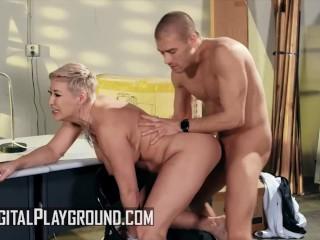 Digital Playground – Thick curvy babe Ryan Keely rides Xander Corvus monste