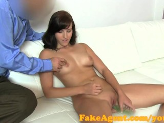FakeAgent I cum inside fertile younger cutie for her first creampie