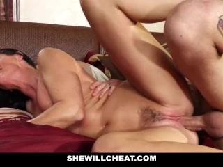SheWillCheat – Horny Stepmom Using Vibrator
