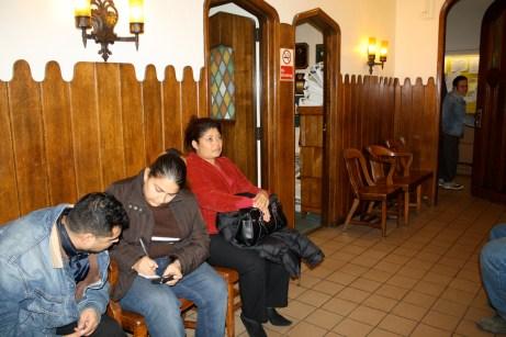 The waiting room at St. Brigid's Church.