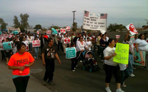 A recent march for immigrant rights in Arizona - Photo: Detention Watch Network.