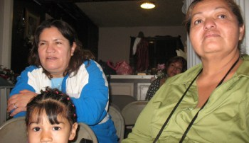 Ana Ramirez, left, lost her 19-year-old son, who was killed just outside her home.