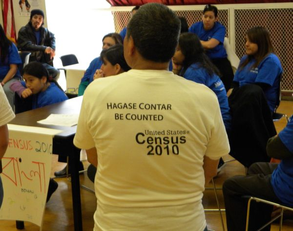 Volunteers at an immigrant census outreach event in Queens, NY. - Photo: John Rudolph