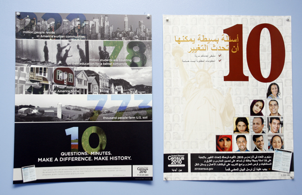 Posters Explaining the Census in Arabic - Photo: Sarah Kate Kramer