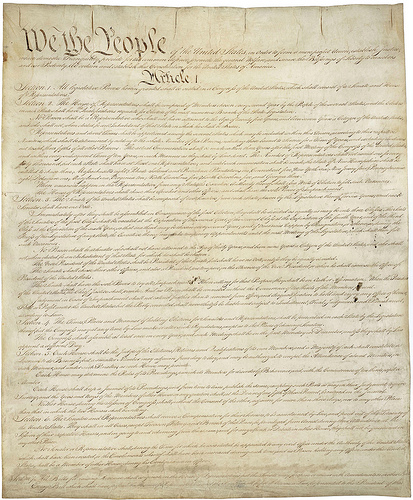 U.S. Constitution - Photo: Chuck Coker/flickr