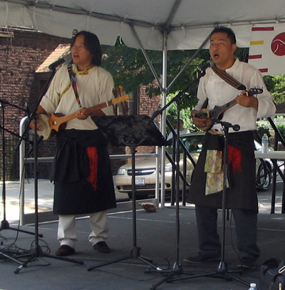 Tibetan musicans performing at South Asian Street Festival in Queens, NY - Photo: Cristina DC Pastor