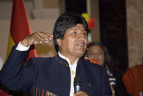 Evo Morales - Photo: Sebastian Baryli/flickr