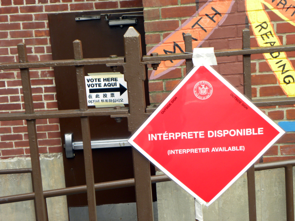 Interpreters were available at the polling stations in Greenpoint, Brooklyn - Photo: Ewa Kern-Jedrychowska
