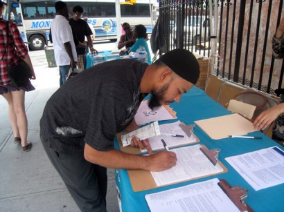A Council on American-Islamic Relations NY voter registration drive - Photo Courtesy of CAIR