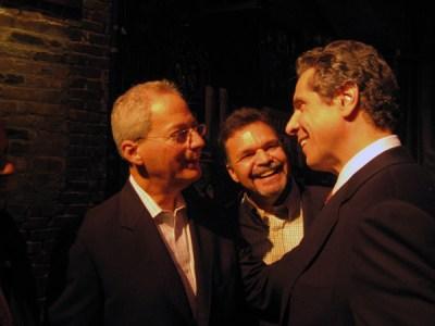 Andrew Cuomo with Fernando Ferrer and state Assemblyman Felix Ortiz - Photo: Catalina Jaramillo